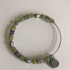 Alex and Ani Green & Silver Bracelet